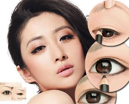 Cách trang điểm mắt một mí to đẹp hơn