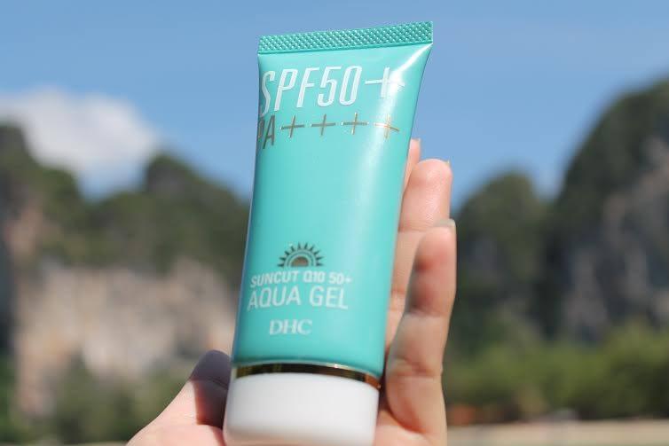 Kem chống nắng DHC suncut Q10 spf 50 PA++++ Aqua gel tốt không?