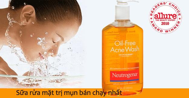 Sữa rửa mặt trị mụn Neutrogena oil-free acne wash tốt không?