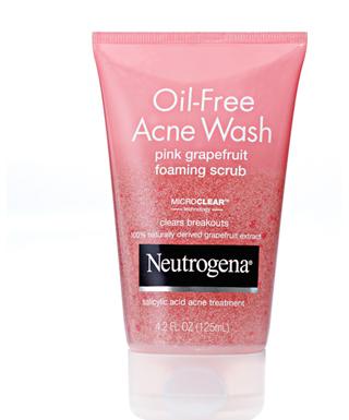 Neutrogena Oil Free Acne Wash Pink Grapefruit foaming scrub