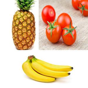 Thực đơn giảm cân 10kg trong 1 tháng với cà chua+ chuối+ dứa